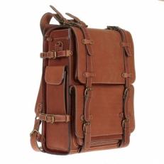 Походный кожаный рюкзак Legion рыжий