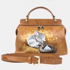 Женская сумочка «Зайка и птенец»