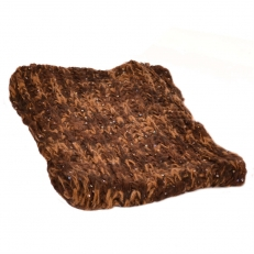 Шарф снуд коричневый с пайетками 100 фото-2