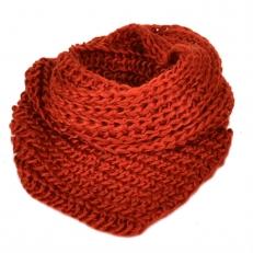 Женский шарф хомут терракотовый 104