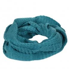 Вязаный шарф снуд бирюзовый 105