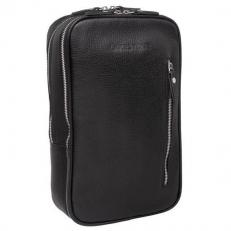Однолямочный кожаный рюкзак Scott Black фото-2