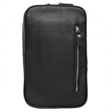 Однолямочный кожаный рюкзак Scott Black