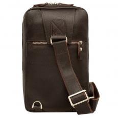 Однолямочный кожаный рюкзак Scott Brown фото-2
