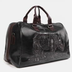 Дорожная сумка с рисунком SD002 Black Носорог Дюрера фото-2