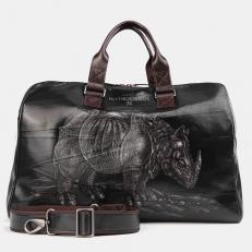 Дорожная сумка с рисунком SD002 Black Носорог Дюрера