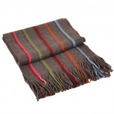 Мужской вязаный шарф серый 6400339