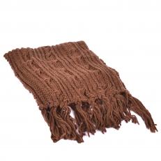 Вязаный широкий шарф 099