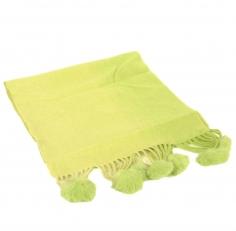 Кашемировый шарф салатовый 42001