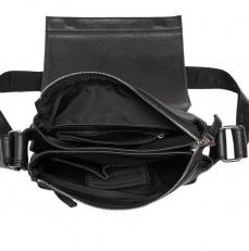 Мужская черная сумка для небольших доументов Shellmor фото-2