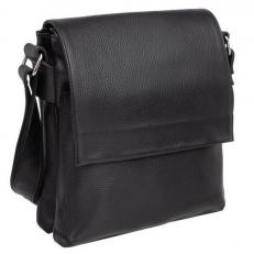Мужская черная сумка для небольших доументов Shellmor