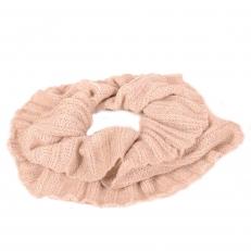 Женский шарф снуд молочно-белый с люрексом 102