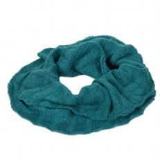 Теплый шарф снуд бирюзовый 102