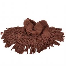 Вязаный шарф снуд коричневый 104