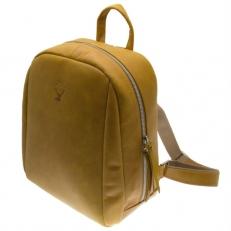 Желтый кожаный рюкзак Spider