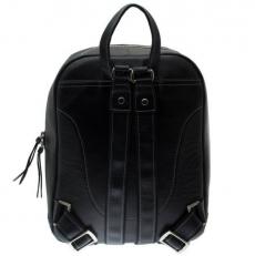 Черный кожаный рюкзак Spider фото-2