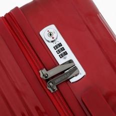 Чемодан пластиковый 1421A-24 красный фото-2
