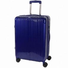 Чемодан пластиковый 1421A-24 синий