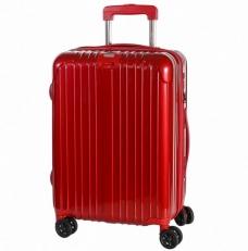 Чемодан пластиковый 1421A-24 красный