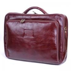 Кейс из кожи бордово-коричневого цвета 05-020245A