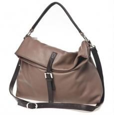 Большая мягкая сумка женская цвета кофе с молоком 3021