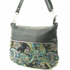 Женская сумка 3041 голубой узор