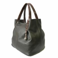 Мягкая кожаная сумка женская на коротких ручках 3197