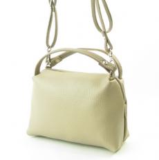 Маленькая сумочка женская из бежевой кожи 3822