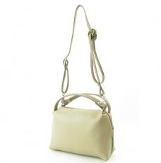 Маленькая сумочка из бежевой кожи 3822 фото-2