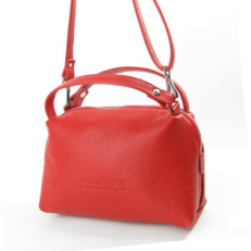 Красная кожаная сумочка 3822