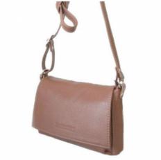 Мини сумка женская для документов из рыжей кожи 421.4