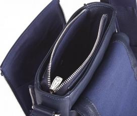 Кожаная сумочка 9488 N.Polo D.Blue фото-2