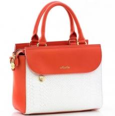 Женская сумка 9994 N.Coral/Anaconda White