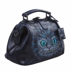 Сумка саквояж синяя Чеширский кот