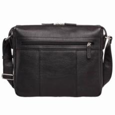 Кожаная сумка через плечо Clapton Black фото-2