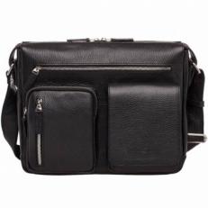 Кожаная сумка через плечо Clapton Black