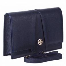 Синяя сумка-клатч Narvin 9957 N.Polo D.Blue