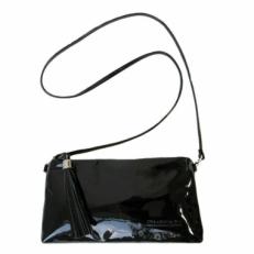 Мини сумка черный лак 8408