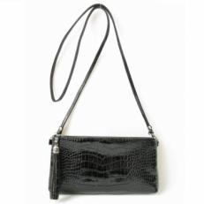 Мини сумка через плечо черная 8408
