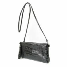 Мини сумка через плечо черная 8408 фото-2