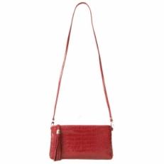 Мини сумка через плечо красная 8408 фото-2