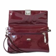 Мини сумка бордовый лак 8501 фото-2