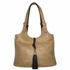 Кожаная женская сумка KSK 3053 бежевая