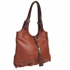 Коричневая кожаня сумка женская 3053