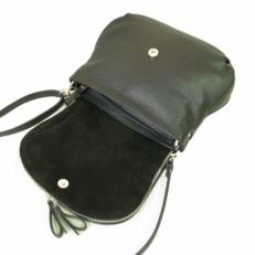Кожаная сумочка 401.4 черная фото-2
