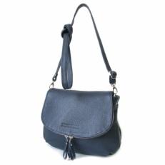 Кожаная сумка через плечо KSK 401.4 синяя