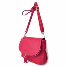 Кожаная сумка красная KSK 401.4