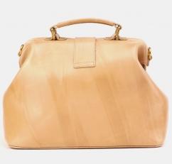 Женская сумка-саквояж из светлой кожи W0023 фото-2