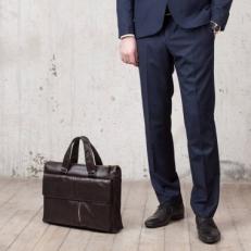 Деловая сумка Langton Brown кожаная фото-2