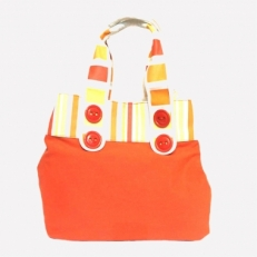 Сумка пляжная оранжевая 10341 фото-2
